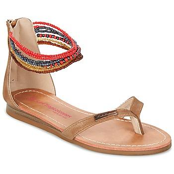 Schuhe Mädchen Sandalen / Sandaletten Les Tropéziennes par M Belarbi GINKGO Braun