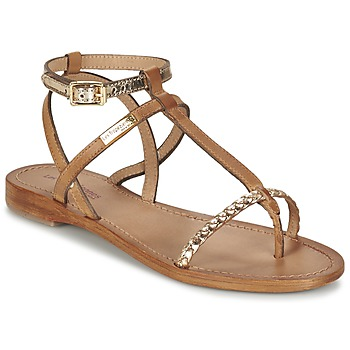 Schuhe Damen Sandalen / Sandaletten Les Tropéziennes par M Belarbi HILATRES Braun / Gold