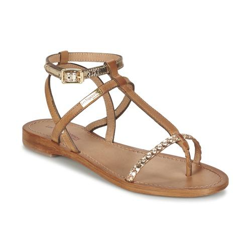 Les Tropéziennes par M Belarbi HILATRES Braun / Gold  Schuhe Sandalen / Sandaletten Damen 52