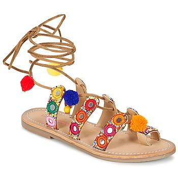 Schuhe Damen Sandalen / Sandaletten Les Tropéziennes par M Belarbi OREA Braun / Multifarben