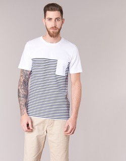 Kleidung Herren T-Shirts Jack & Jones APRIL CORE Weiss / Marine