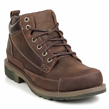 Schuhe Herren Boots Skechers SHOCKWAVES REGIONS Braun