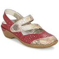 Schuhe Damen Sandalen / Sandaletten Rieker KOLIPEDI Rot / Gold
