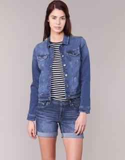Kleidung Damen Jeansjacken Esprit CROVETTA Blau