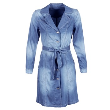 Kleidung Damen Trenchcoats Cream DENIM TRENCHCOAT Blau