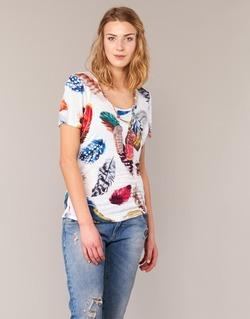 Kleidung Damen T-Shirts Derhy JACQUOT Weiss / Multifarben