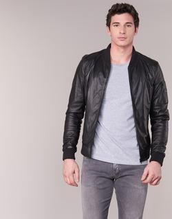 Kleidung Herren Lederjacken / Kunstlederjacken Oakwood 62354 Schwarz
