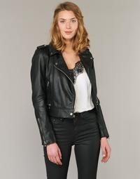 Kleidung Damen Lederjacken / Kunstlederjacken Oakwood 62326 Schwarz