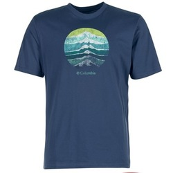 Kleidung Herren T-Shirts Columbia CSC MOUNTAIN SUNSET Blau