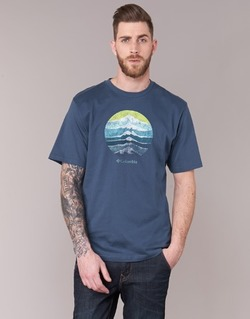 Kleidung Herren T-Shirts Columbia CSC MOUNTAIN SUNSET Blau
