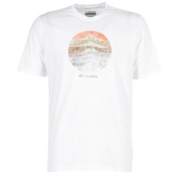 Kleidung Herren T-Shirts Columbia CSC MOUNTAIN SUNSET Weiss