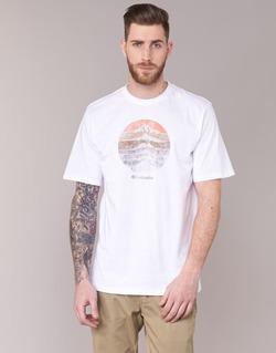 Kleidung Herren T-Shirts Columbia CSC MOUNTAIN SUNSET Weiss