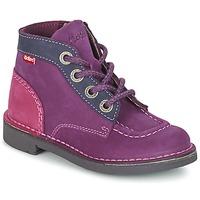 Schuhe Mädchen Boots Kickers KICK COLZ Violett / Marine / Rose