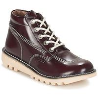 Schuhe Damen Boots Kickers NEORALLYE Bordeaux