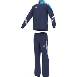 Kleidung Jungen Jogginganzüge adidas Performance Survêtement Sereno 14 Pes Suit Junior Blau
