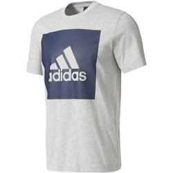 Kleidung Herren T-Shirts adidas Performance Essentials Box Logo T-Shirt Grau