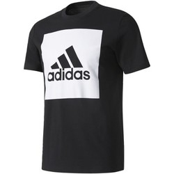 Kleidung Herren T-Shirts adidas Performance Essentials Box Logo T-Shirt Schwarz