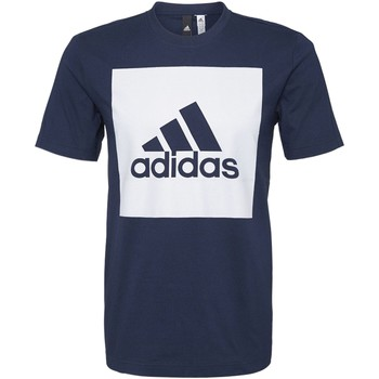 Kleidung Herren T-Shirts adidas Performance Essentials Box Logo T-Shirt Dunkelblau