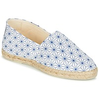 Schuhe Damen Leinen-Pantoletten mit gefloch Maiett ASANOHA Blau / Weiss