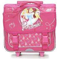 Taschen Mädchen Schultaschen / Schulranzen mit Rollen Disney PRINCESSES CARTABLE TROLLEY 38CM Rose
