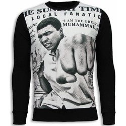Kleidung Herren Sweatshirts Local Fanatic Muhammad Ali Newspaper Schwarz