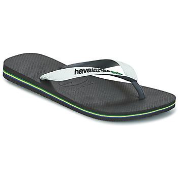 Schuhe Zehensandalen Havaianas BRASIL MIX Weiss / Schwarz