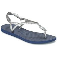 Schuhe Damen Zehensandalen Havaianas LUNA Silbern / Blau