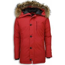 Kleidung Herren Parkas Enos Jacken Mit Fellkragen Winterjacken  Große Rot, Bordeaux