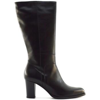 Schuhe Damen Klassische Stiefel Denouée Dénouée bottes 9297 noires Schwarz