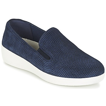 Schuhe Damen Slip on FitFlop SUPERSKATE (PERF) Marine