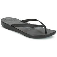 Schuhe Damen Zehensandalen FitFlop IQUSHION ERGONOMIC FLIP FLOP Schwarz