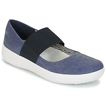 Schuhe Damen Ballerinas FitFlop FSPORTY MARY JANE CANVAS Navy