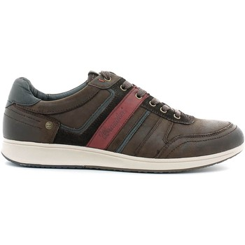 Schuhe Herren Sneaker Low Wrangler WM162151 Turnschuhe Man Dark brown Dark brown