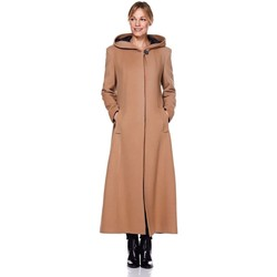Kleidung Damen Mäntel De La Creme Frauen mit Kapuze Cashmere Wolle Winter langen Wintermantel BEIGE