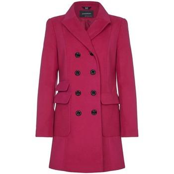 Kleidung Damen Trenchcoats Anastasia -  Damen Rosa Military WinterMantel Pink