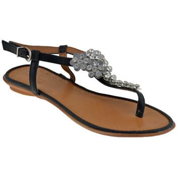Schuhe Damen Sandalen / Sandaletten Total Lookers 60829 Strass flip flop zehentrenner