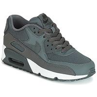 Schuhe Jungen Sneaker Low Nike AIR MAX 90 MESH GRADE SCHOOL Grau