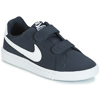 Schuhe Kinder Sneaker Low Nike COURT ROYALE PRESCHOOL Blau / Weiss