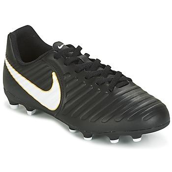 Schuhe Kinder Fußballschuhe Nike TIEMPO RIO IV FG JUNIOR Schwarz / Weiss