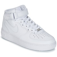 Schuhe Herren Sneaker High Nike AIR FORCE 1 MID 07 LEATHER Weiss