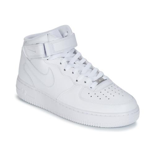 Nike AIR FORCE 1 MID 07 LEATHER Weiss - Kostenloser Versand ...