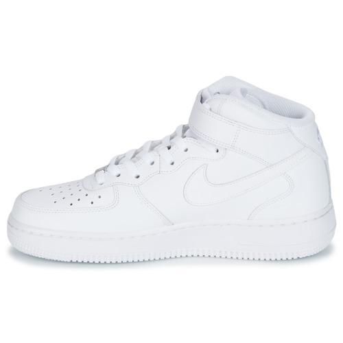 ... Nike AIR FORCE 1 MID 07 LEATHER Weiss Weiss Schuhe Sneaker High Herren  98,99 ... c20310e82a