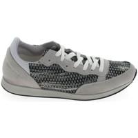 Schuhe Damen Sneaker Low Ippon Vintage Run Street Blanc Gris Grau