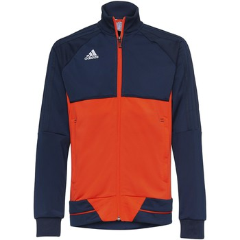 Kleidung Jungen Trainingsjacken adidas Performance Tiro 17 Trainingsjacke Dunkelblau / Orange / Weiß