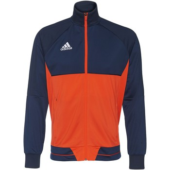 Kleidung Herren Trainingsjacken adidas Performance Tiro 17 Trainingsjacke Dunkelblau / Orange / Weiß