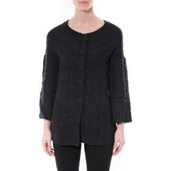 Kleidung Damen Pullover De Fil En Aiguille Gilet MaElla Noir AN 141 Schwarz