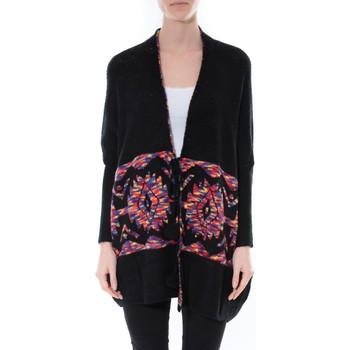 Kleidung Damen Pullover De Fil En Aiguille Gilet Cap Lili & Lala 1862 Noir Schwarz