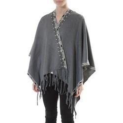 Kleidung Damen Pullover De Fil En Aiguille Poncho Senes  Anthracite  YM 121 Grau