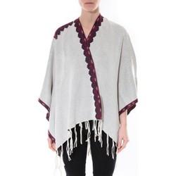 Kleidung Damen Pullover De Fil En Aiguille Poncho Senes  Beige  YM 121 Beige