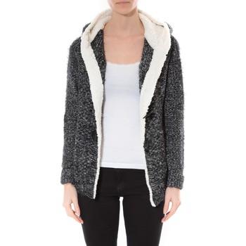 Kleidung Damen Pullover De Fil En Aiguille Veste  Capuche  Maella   Noir  FT13 Schwarz